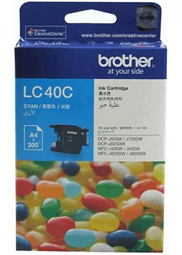 Brother LC-40C ตลับหมึกอิงค์เจ็ท สีฟ้า Cyan Original Ink Cartridge