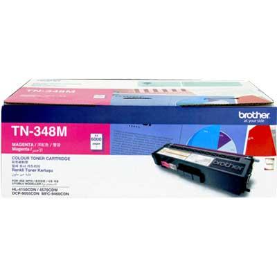 Brother TN-348M ตลับหมึกโทนเนอร์ สีม่วงแดง ของแท้ Magenta Original Toner Cartridge