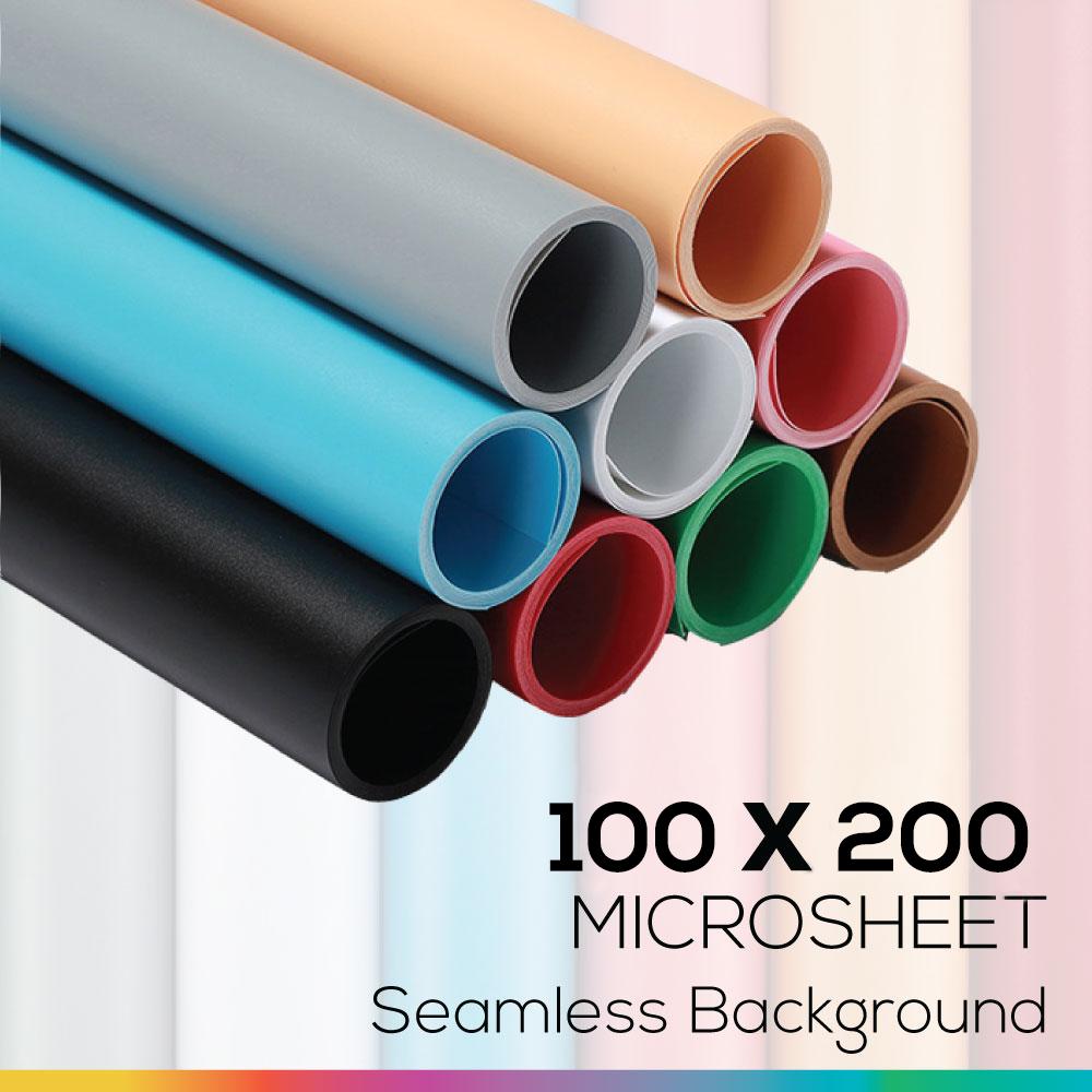 Microsheet 100 x 200 cm เลือกสี แผ่นไมโครชีทฉากหลังถ่ายภาพสินค้า