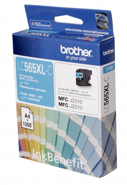 Brother LC-565XLC ตลับหมึกอิงค์เจ็ท สีฟ้า Cyan Original Ink Cartridge