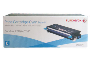 Fuji Xerox CT350671 ตลับหมึกโทนเนอร์ สีฟ้า ของแท้ Cyan Original Toner Cartridge