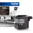 Brother LC-569XLBK ตลับหมึกอิงค์เจ็ท สีดำ Black Original Ink Cartridge