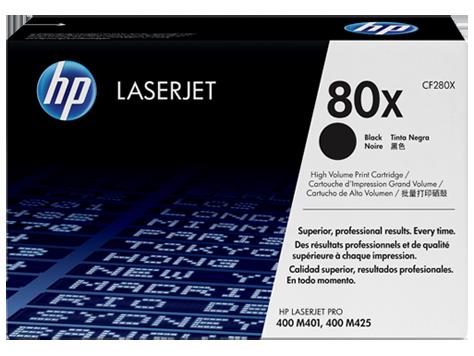 HP 80X ตลับหมึกโทนเนอร์ สีดำ Black Original Toner Cartridge (CF280X)