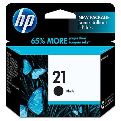 HP 21 ตลับหมึกอิงค์เจ็ท สีดำ Black Original Ink Cartridge (C9351AA)