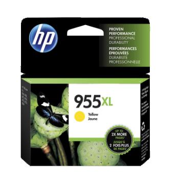 HP 955XL ตลับหมึกอิงค์เจ็ท สีเหลือง High Yield Yellow Original Ink Cartridge (L0S69AA)
