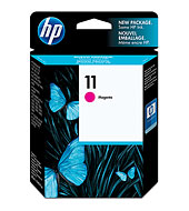 HP 11 ตลับหมึกอิงค์เจ็ท สีม่วงแดง Magenta Original Ink Cartridge (C4837A)