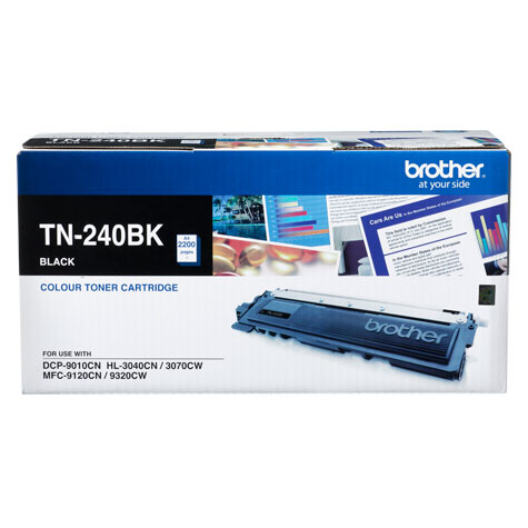 Brother TN-240BK ตลับหมึกโทนเนอร์ สีดำ Black Original LaserJet Toner Cartridge