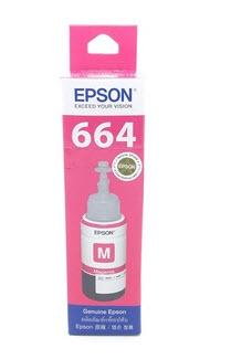 Epson T664300 น้ำหมึกเติมแบบขวด สีม่วงแดง 70 ml ของแท้
