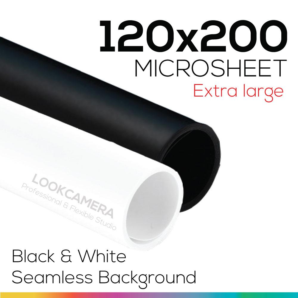 Black & White 120x200 cm ชุดคู่เริ่มต้น แผ่นไมโครชีทสีขาวและดำใหญ่ (ใหญ่พิเศษ)
