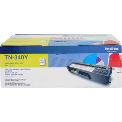 Brother TN-340Y ตลับหมึกโทนเนอร์ สีเหลือง ของแท้ Yellow Original Toner Cartridge
