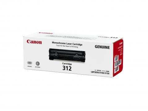 Canon Cartridge-312 ตลับหมึกโทนเนอร์ สีดำ Black Toner Original Cartridge
