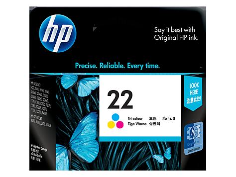 HP 22 ตลับหมึกอิงค์เจ็ท 3สี Tri-color Original Ink Cartridge (C9352AA)
