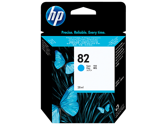 HP 82 69-ml ตลับหมึกอิงค์เจ็ท สีฟ้า Cyan DesignJet Original Ink Cartridge (C4911A)