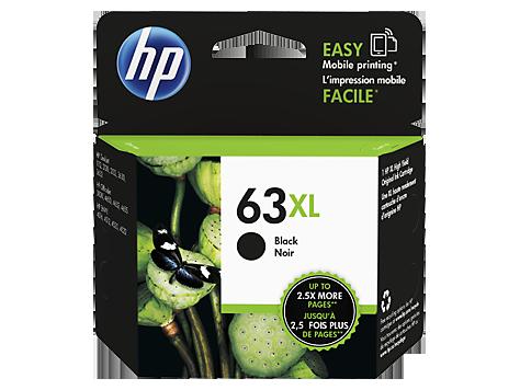 HP 63XL ตลับหมึกอิงค์เจ็ท สีดำ High Yield Black Original Ink Cartridge (F6U64AA)