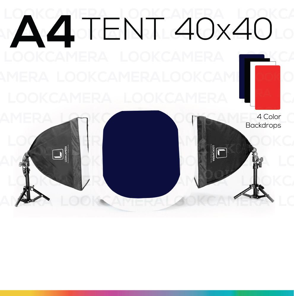 A4 TENT 40x40 ชุดไฟแสงนุ่ม ถ่ายภาพสินค้า เริ่มต้น