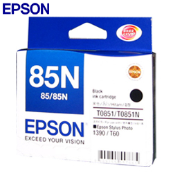 Epson T122100 (85N) หมึกพิมพ์อิงค์เจ็ต สีดำ Black Original Ink