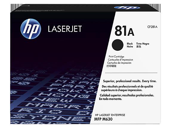 HP 81X ตลับหมึกโทนเนอร์ สีดำ Black Original Toner Cartridge (CF281X)