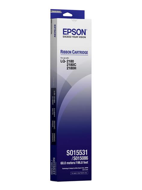 Epson S015531 ผ้าหมึกพร้อมตลับของแท้ Original Ribbon - LQ-2190/2180/2590/2580/2170/2070/2080