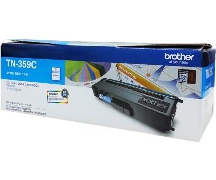 Brother TN-359C ตลับหมึกโทนเนอร์ สีฟ้า ของแท้ Cyan Original Toner Cartridge