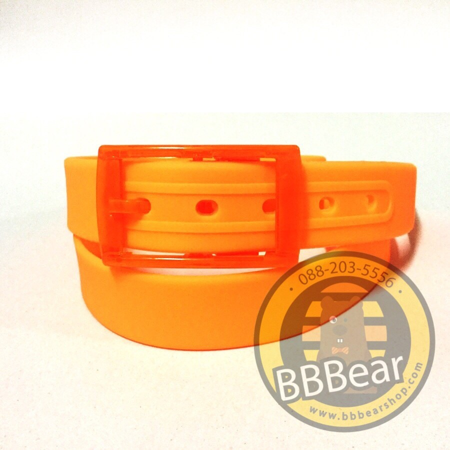 เข็มขัดซิลิโคน - 09 Orange