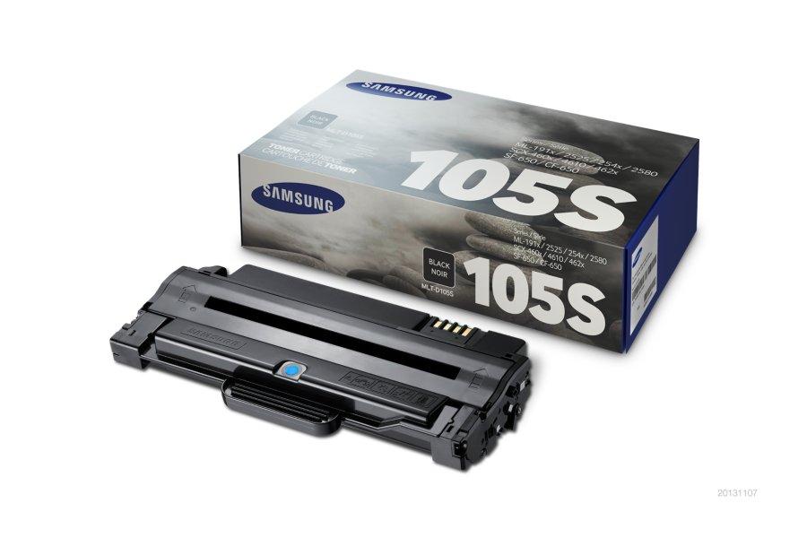 Samsung MLT-D105S ตลับหมึกโทนเนอร์ สีดำ ของแท้ Black Original Toner Cartridge (SU776A)