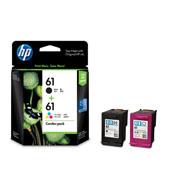 HP 61 ตลับหมึกอิงค์เจ็ท สีดำ+3สี Black+Tri-Color Original Ink Combo pack (CR311AA)
