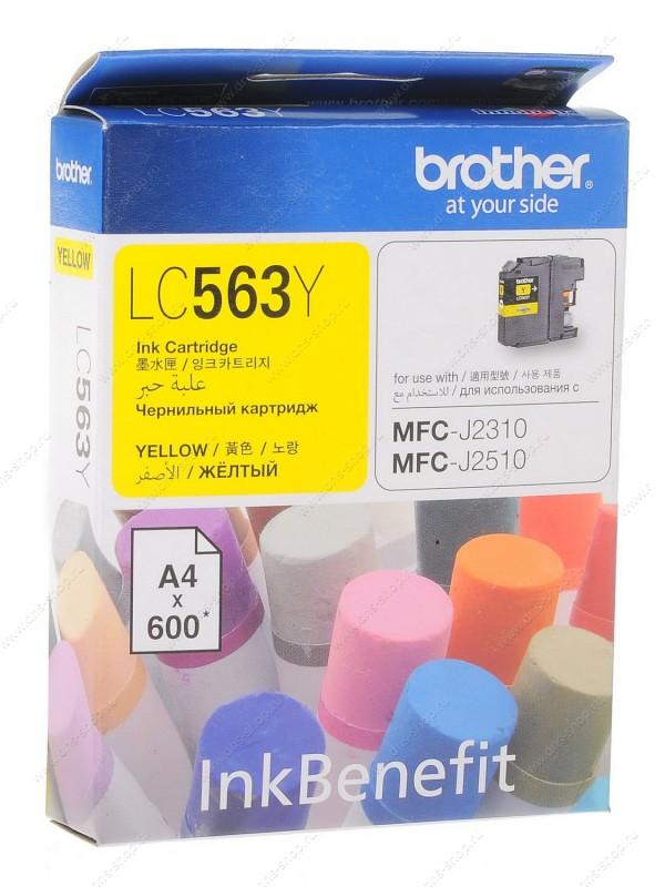 Brother LC-563Y ตลับหมึกอิงค์เจ็ท สีเหลือง Yellow Original Ink Cartridge