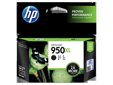 HP 950XL ตลับหมึกอิงค์เจ็ท สีดำ High Yield Black Original Ink Cartridge (CN045AA)