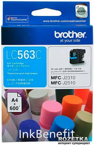 Brother LC-563C ตลับหมึกอิงค์เจ็ท สีฟ้า Cyan Original Ink Cartridge