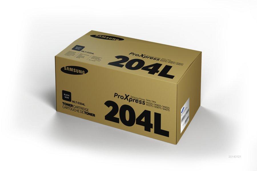 Samsung MLT-D204L ตลับหมึกโทนเนอร์ สีดำ ของแท้ Black Original Toner Cartridge (SU936A)