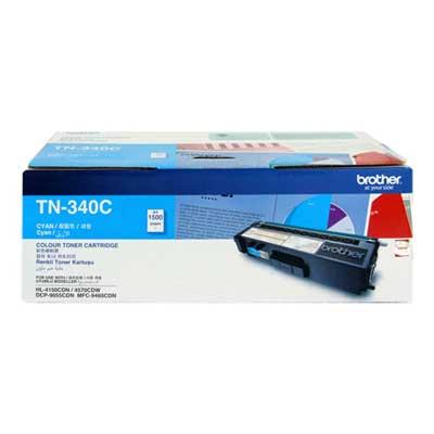 Brother TN-340C ตลับหมึกโทนเนอร์ สีฟ้า ของแท้ Cyan Original Toner Cartridge
