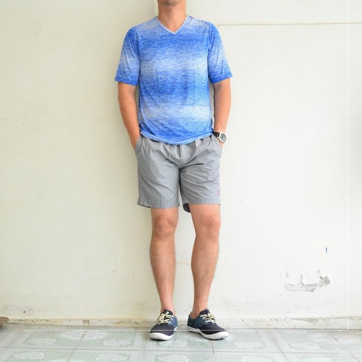 เสื้อยืด เสื้อกีฬา Micro - สีฟ้า