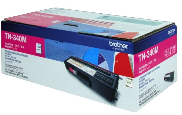 Brother TN-340M ตลับหมึกโทนเนอร์ สีม่วงแดง ของแท้ Magenta Original Toner Cartridge