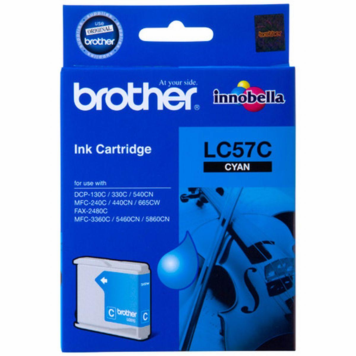 Brother LC-57C ตลับหมึกอิงค์เจ็ท สีฟ้า Cyan Original Ink Cartridge