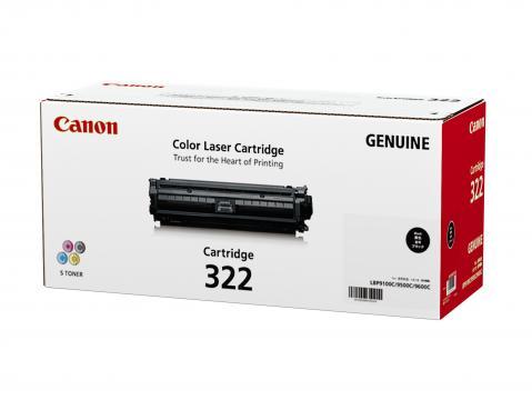 Canon Cartridge-322BK ตลับหมึกโทนเนอร์ สีดำ Black Original Toner Cartridge