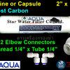 ไส้กรองน้ำ Post Carbon แคปซูล 10 นิ้ว x 2 นิ้ว (หัวเกลียว)+ข้อต่อ Aqua
