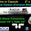 ไส้กรองน้ำ Post Carbon แคปซูล 10 นิ้ว x 2 นิ้ว (หัวเกลียว) ถ่านกะลามะพร้าว+ข้อต่อ Aqua