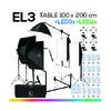 EL3 TABLE 100x200 โต๊ะถ่ายภาพสินค้าปรับองศาได้ ถอดประกอบได้