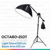 OCTA60 SOFTBOX 210T ขนาด 60 ซม. ชุดโคมไฟแปดเหลี่ยมถ่ายภาพสินค้า