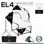 EL4 STUDIO TABLE MOVABLE PACKSHOT โต๊ะถ่ายภาพสินค้าปรับองศาเคลื่อนที่ได้ 100x200 ซม.
