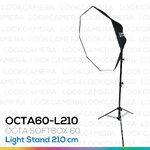 OCTA60 SOFTBOX L210 ขนาด 60 ซม. ชุดโคมไฟแปดเหลี่ยมถ่ายภาพสินค้า