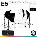 E5 STUDIO TABLE PACKSHOT โต๊ะถ่ายภาพสินค้าปรับองศา 100x200 ซม.
