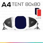 A4 TENT 80x80 ชุดไฟแสงนุ่ม ถ่ายภาพสินค้า เริ่มต้น