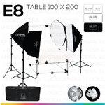 E8 STUDIO TABLE PACKSHOT โต๊ะถ่ายภาพสินค้าปรับองศา 100x200 ซม.