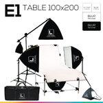 E1 STUDIO TABLE PACKSHOT โต๊ะถ่ายภาพสินค้าปรับองศา 100x200 ซม.