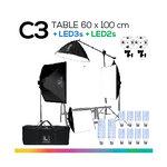 C3 TABLE 60x100 โต๊ะถ่ายภาพสินค้าพับได้