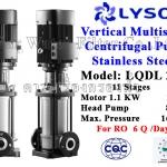 ปั๊ม Stainless Vertical Multistage แรงดันสูง 1.5 HP 11 ใบพัด 220V. Lyson