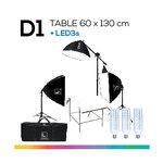 D1 TABLE 60x130 โต๊ะถ่ายภาพสินค้าปรับองศาได้ ถอดประกอบได้