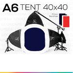 A6 TENT 40x40 ชุดไฟสตูดิโอแสงนุ่มแบบโปร ถ่ายภาพเครื่องประดับ ถ่ายภาพพระเครื่อง ถ่ายภาพแหวน ถ่ายภาพต่างหู ถ่ายภาพสร้อยข้อมือ เครื่องเงิน เครื่องหนัง