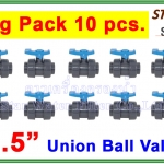 """ยูเนี่ยนบอลวาล์ว พีวีซี PVC true union ball valve 1.5"""" (ID:48 mm) (Star) ยกแพ๊ค 10 pcs."""